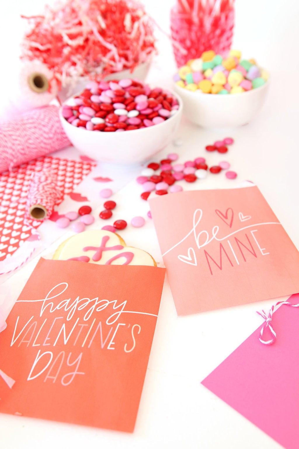 Printable Valentine Freezer Paper Treat Bags