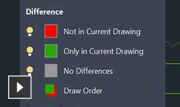Video: identificate le differenze tra le 2 versioni di un disegno o un xref.
