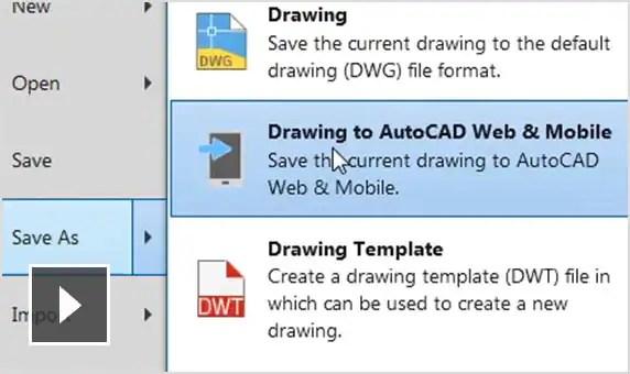 Vídeo: Vea y edite dibujos desde las aplicaciones web y para dispositivos móviles