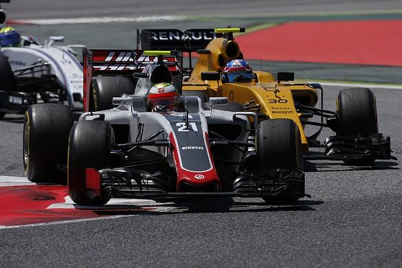 Esteban Gutierrez, Haas and Jolyon Palmer, Renault, Spanish GP 2016, Barcelona