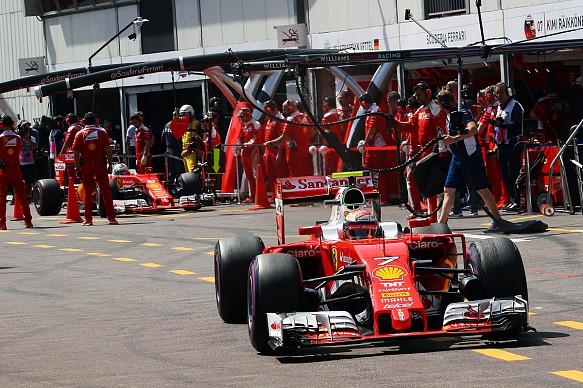 Kimi Raikkonen, Sebastian Vettel, Ferrari, Monaco GP