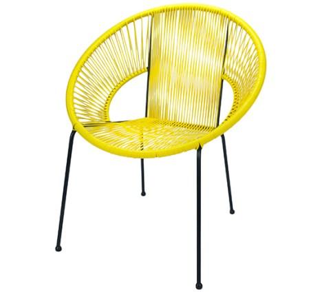 Fauteuil Ipanema en fil jaune - 89€ chez Salon d'été