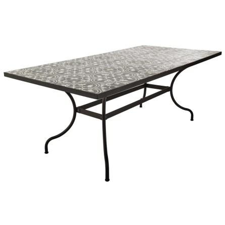 Table Rosa métal et carreaux de ciment 6/8 personnes - 549€ chez Maisons du Monde