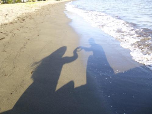 puerto rico beach sun heart hands