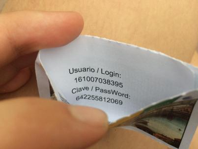 How ETECSA wifi cards look like in Cuba