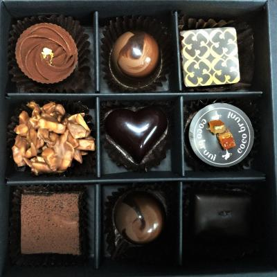 A box of Korean chocolates, from Coco Bruni.