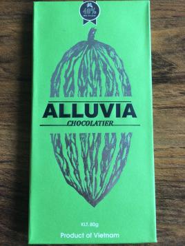 Alluvia Chocolatier Vietnamese Cacao Bean to Bar Milk Chocolate 40% Front of the Bar