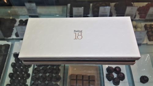 Feeling 18 Chocolate Nantou Taiwan box of chocolates closed