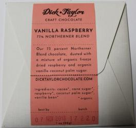 dick taylor underground chocolate vanilla raspberry back of bar