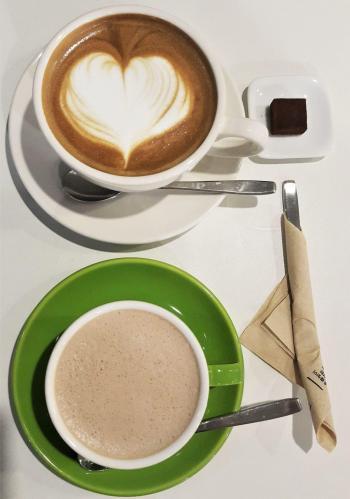 17 dossi hot chocolate latte hongdae ganache