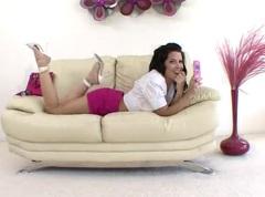 Rebeca Linares s černochem