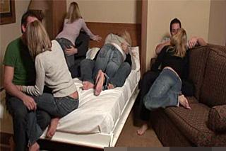 Americká swingers party na bytě