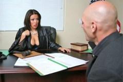 Obhájce opíchá soudkyni v její kanceláři! (Sienna West, Johnny Sins)
