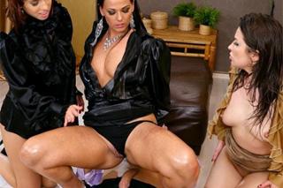 Zvrhlé kolegyně ošukají nového asistenta! (Simony Diamond, Akasha Cullen a Tina Hot)
