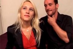 Francouzská blondýna si zaprcá s náhodným mužem z ulice