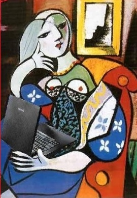 Woman with Blog after Pablo Picasso Mike Lichts NotionsCapital.com Flickr
