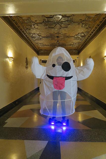 Becky Stern/Emoji ghost Halloween costume/Flickr