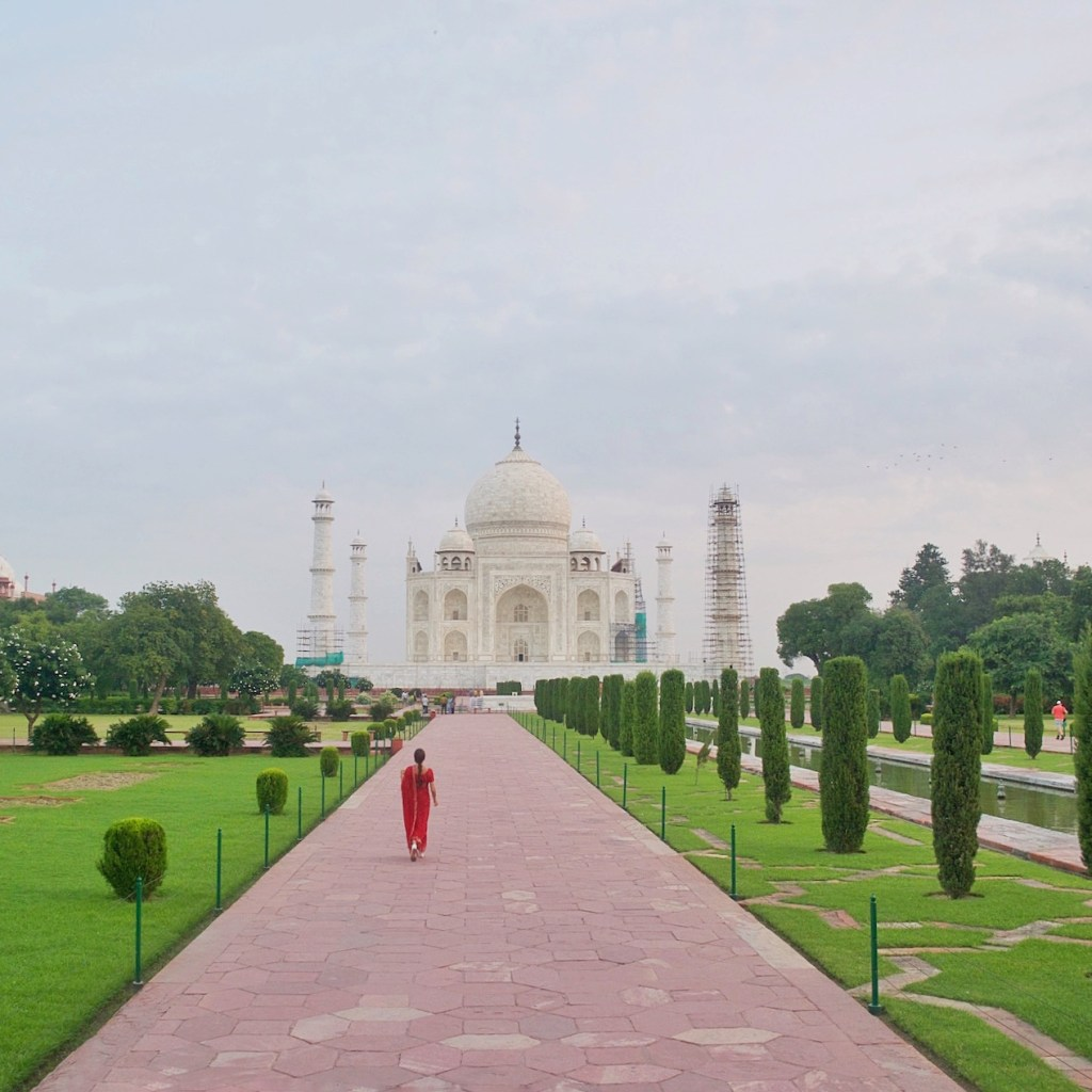 Sunrise at the Taj Mahal is an amazing experience. Do not miss waking up early to see the Taj as the sun turns the stones pink. http://travelwheretonext.com