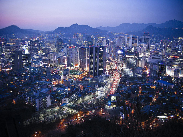Fall Mountaons In The Sun Wallpaper Soju And Spice In The City Of Seoul