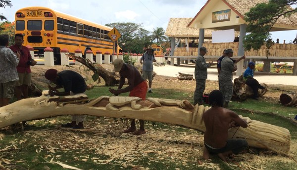 FestPac 2016 Wood Carving Demonstrations Damian Daily
