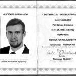 Trener Personalny Białystok - legitymacvja instruktorska