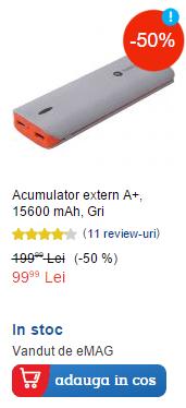 Acumulator extern A+ Power Bank