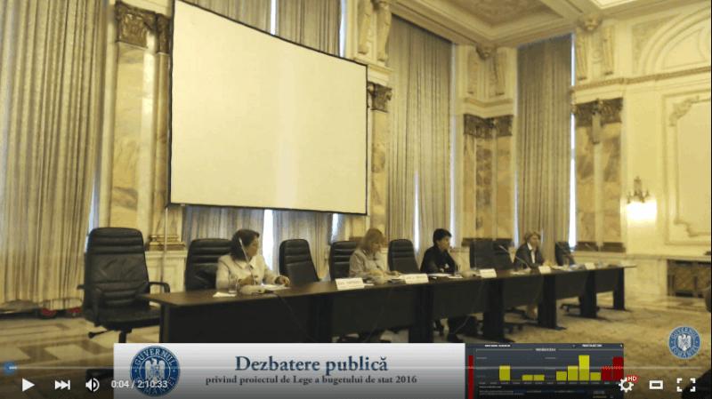 Dezbatere publică privind bugetul pe 2016