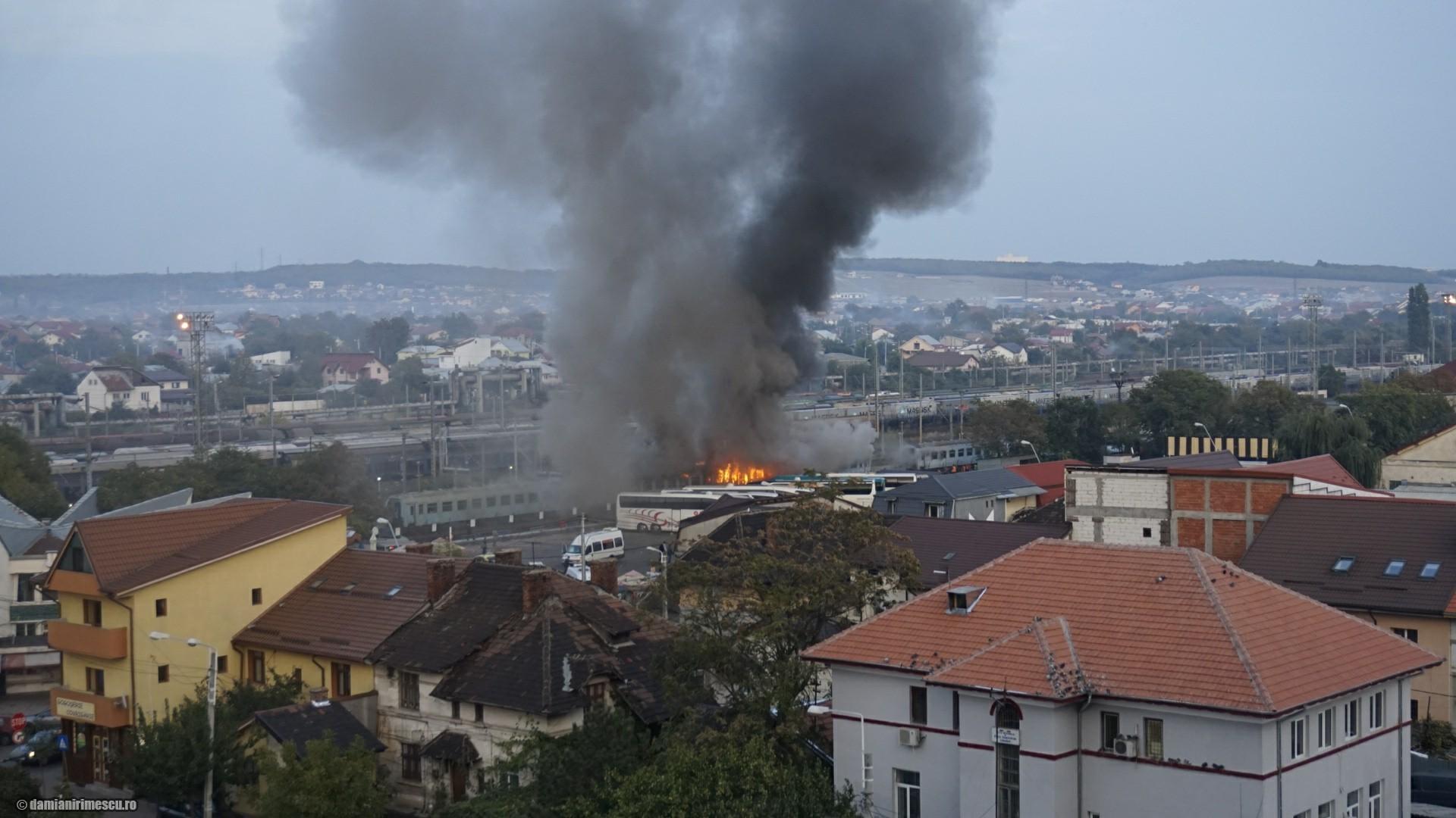 Incendiu Gară Craiova