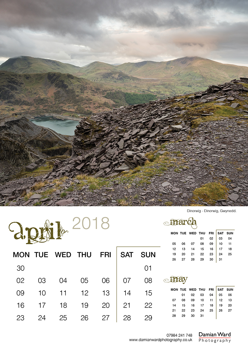 Damian Ward Photography Calendar 2018 April