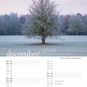 Damian Ward Photography Calendar 2018 December