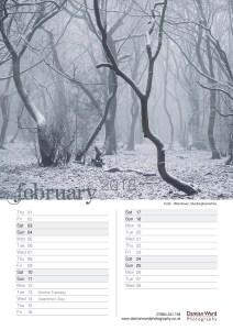 Damian Ward Photography Calendar 2018 February