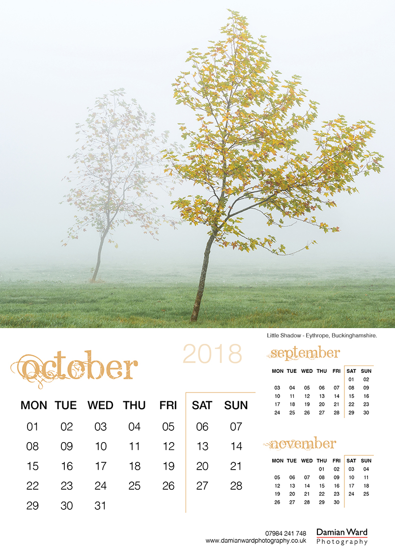 Damian Ward Photography Calendar 2018 October