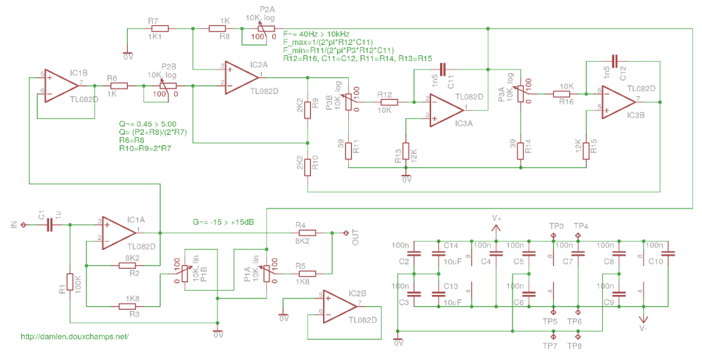 medium resolution of parametric audio equalizer module schematic and pcb equalizer circuit electronic schematic circuit diagram picture