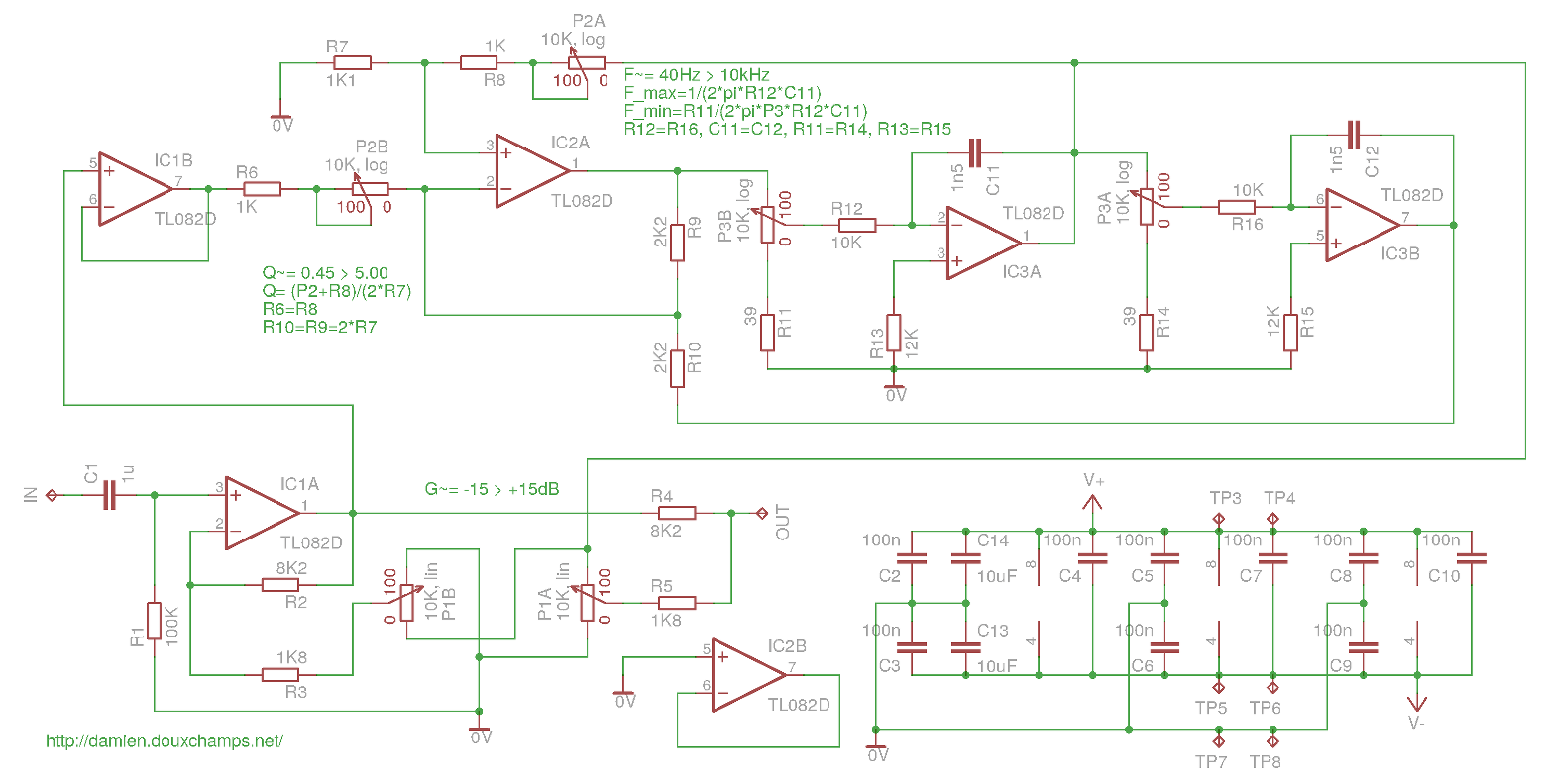hight resolution of parametric audio equalizer module schematic and pcb equalizer circuit electronic schematic circuit diagram picture