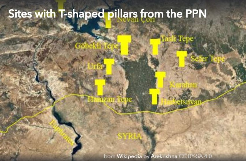 Göbekli Tepe 12,000 years old T-shaped Pillars are not Alone ... on middle east map, stonehenge map, baalbek map, garden of eden map, rome map, istanbul map, cappadocia map, easter island map, ur map, fertile crescent map, babylon map, troy map, night sky map, turkey map, samaria map, catalhoyuk map, teotihuacan map, angkor wat map, ancient civilizations map, puma punku map,
