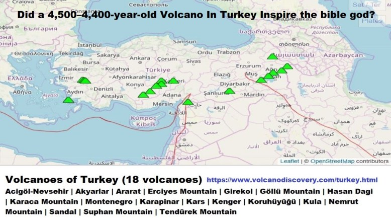 Did a 4,500–4,400-year-old Volcano In Turkey Inspire the bible god