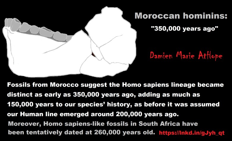 Human Origins at 350,000 years ago and the Rise of Ritual as well as