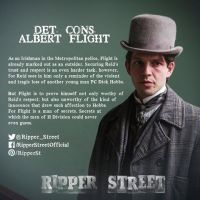 Ripper Street 2 Official Character Profile - Damien Molony as Detective Sergeant Albert Flight