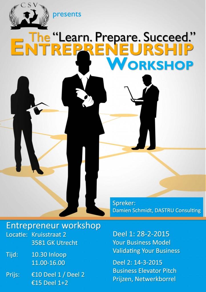 learn prepare succeed entrepreneurship workshop csv
