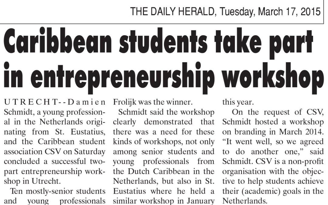 [Article] Caribbean Students take part in entrepreneurship workshop