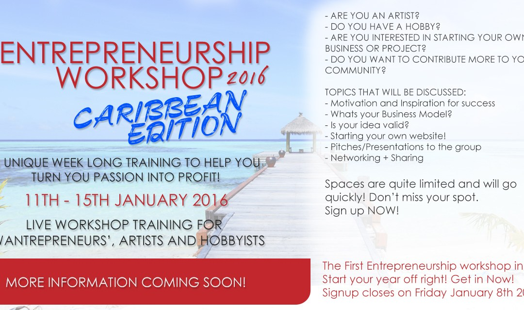 Entrepreneurship Workshop Caribbean 2016