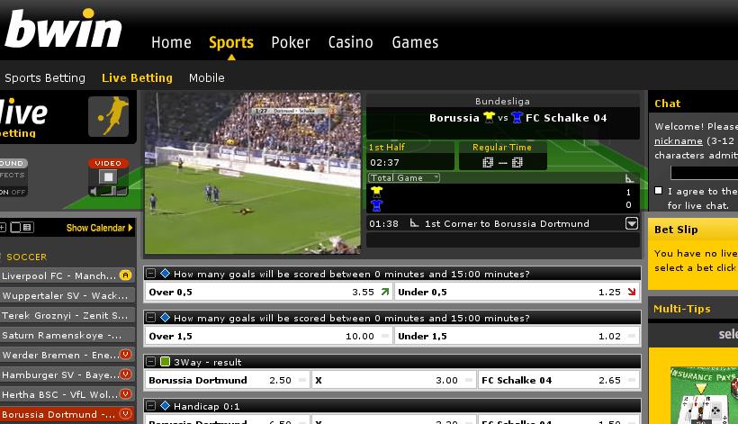 Bundesliga bei bwin.com
