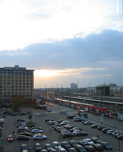 Blick auf den Frankfurter Hauptbahnhof