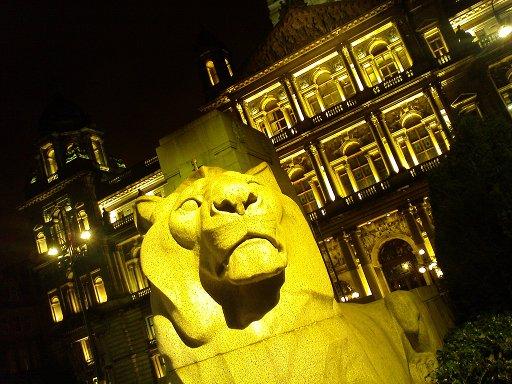 Löwe vor den City Chambers