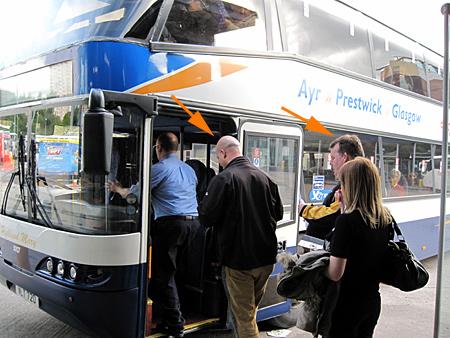 Bus zum Flughafen Prestwick