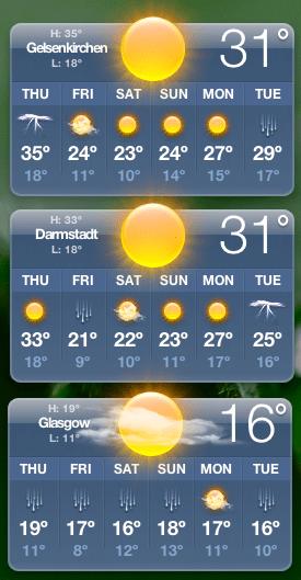 Temperaturunterschiede