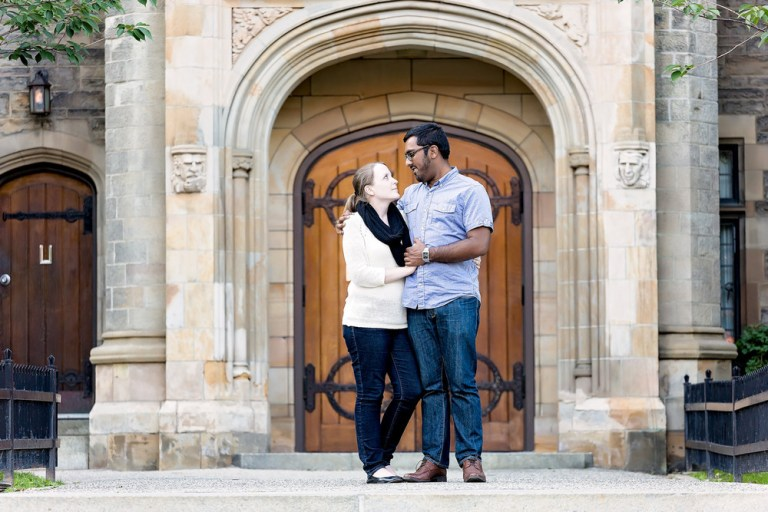 Sarah & Abrar: Discovery District Toronto Engagement Photographer