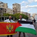 Rabii Hantouli (lijevo), ambasador Palestine u Podgorici, sa radošću je prihvatio vijest da Edin putuje u njegovu zemlju