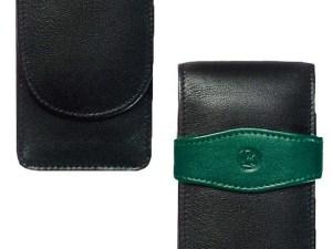 Genarbtes Leder-Etui für zwei Schreibgeräte