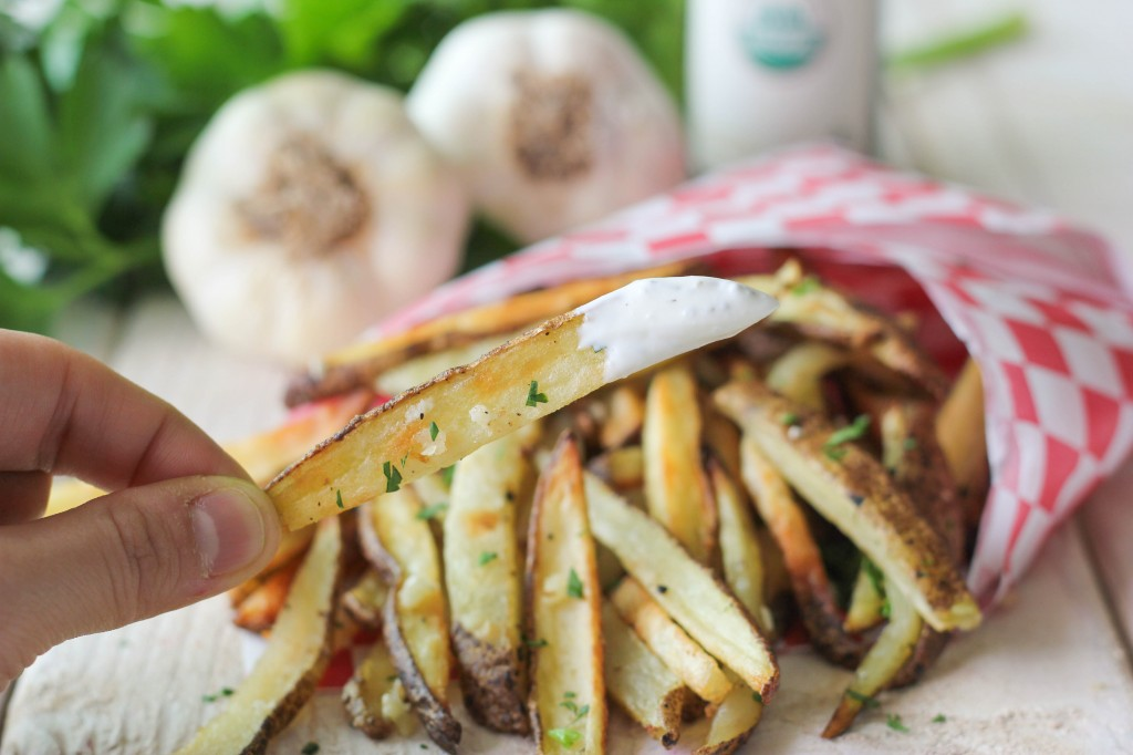 Garlic Truffle Fries - It's amazing what a little truffle oil can do to these heavenly, crisp, oven-baked fries!